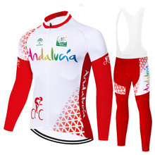 2021 andalucia team bike clothing men cycling jersey set long sleeve breathable fabric equipos de ciclismo