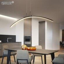 Современный светодиодный подвесной светильник с дистанционным управлением для учебы, кухни, столовой, гостиной, шнура, висячие лампы для помещений, входные AC90 260V