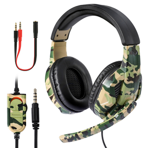 Image 1 - New 3.5mm Camouflage Gaming Headphone Professional Gaming Stereo Head mounted For PS4 PS3 Xbox Switch Headset Computer Earphones