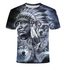 3d Indians Wolf Print Fashion Brand T Shirts O Neck Short Sl