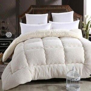 Image 4 - Svetanya edredón cálido grueso para cama, relleno de Cachemira de cordero Artificial, manta