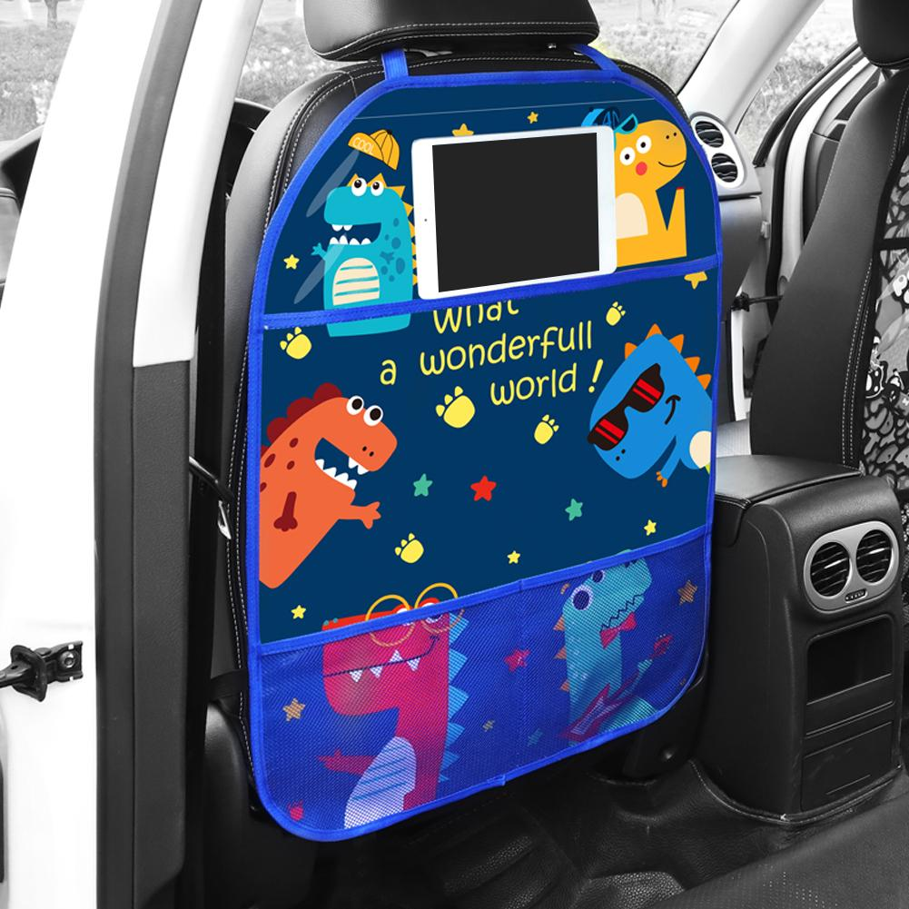 Car Seat Back Anti-Kick Mat Children's Cartoon Rear Protector Cover For Kid Children Baby From Mud Dirt Car Accessories
