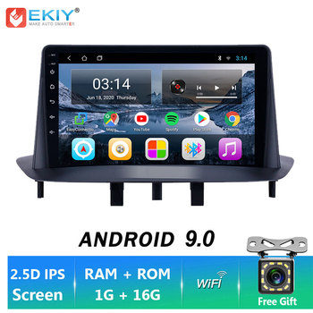 EKIY IPS Android 9.0 For Renault Megane 3 2008-2012 Car Radio Multimedia Video Player GPS Navigation Stereo BT Wifi No 2 Din DVD image
