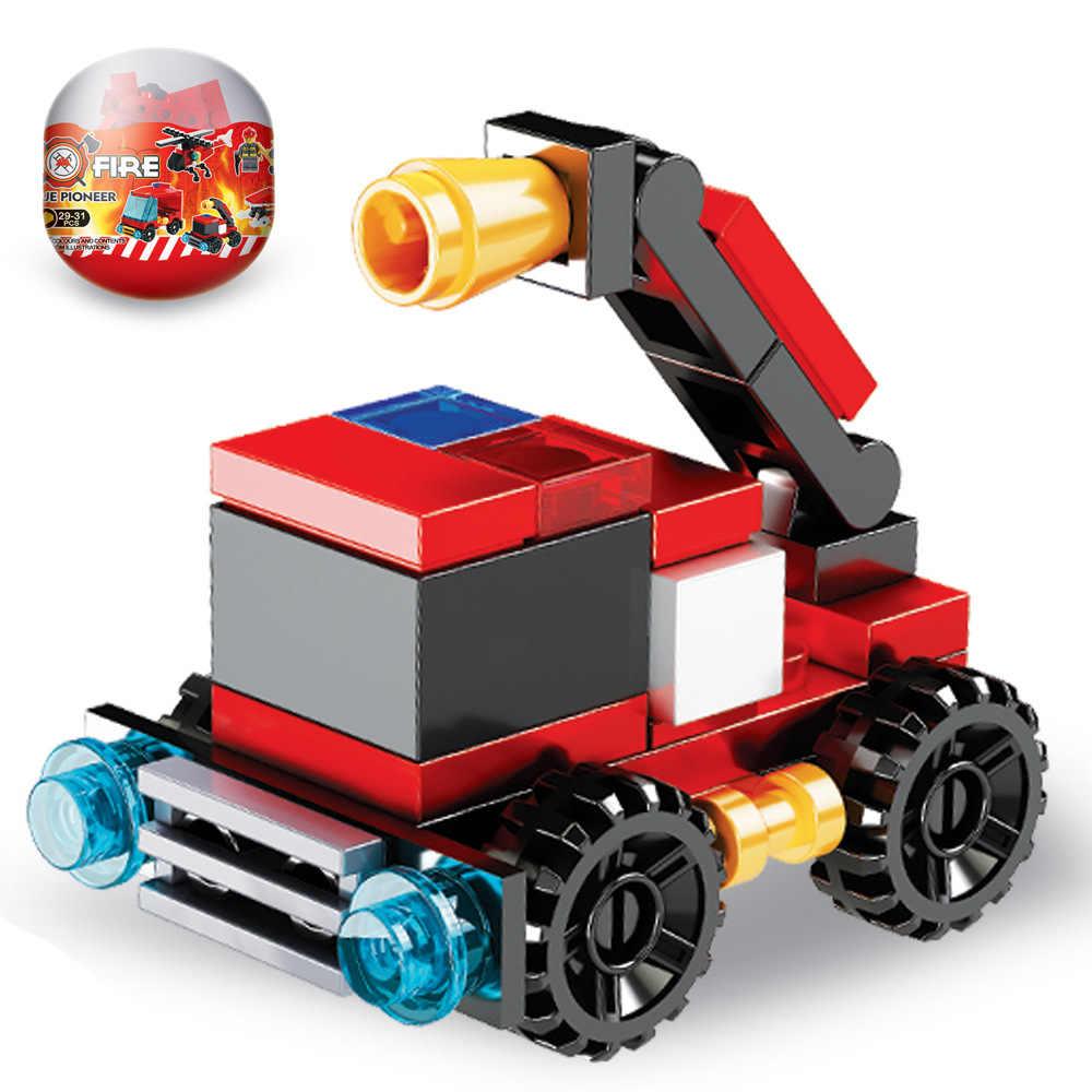Gorąca sprzedaż wóz strażacki klocki zestaw klocków dinozaur słoń model figurki kompatybilne ze stacją zabawki do budowania śmigłowca