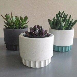 Image 4 - Cement flowerpot mold, flowerpot silicone mold Cement concrete mold