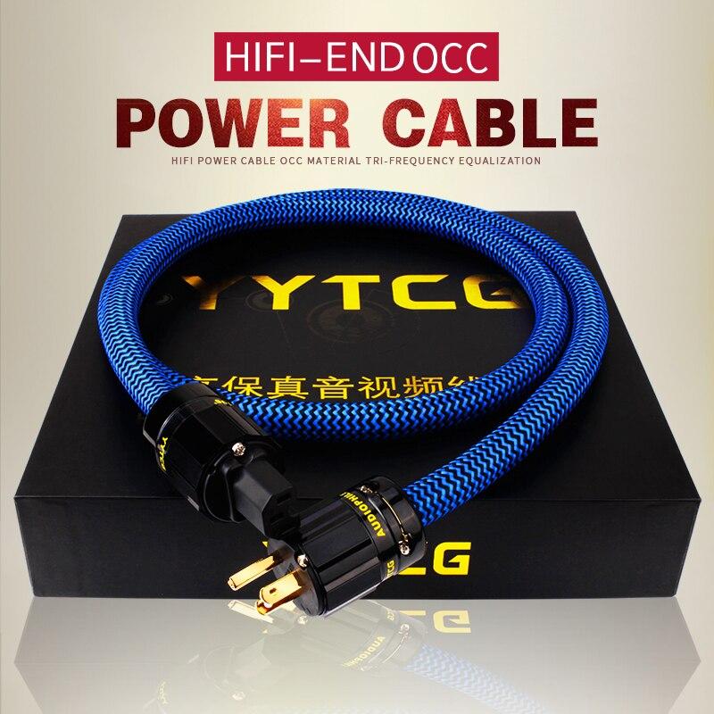 YYTCG Hifi câble d'alimentation en cuivre pur cordon d'alimentation Standard américain de haute qualité pour DVD Amplifer multimédia 1M 2M 3M