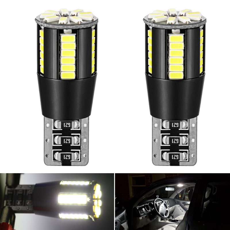 2x Canbus <font><b>LED</b></font> T10 W5W 194 168 <font><b>Interior</b></font> Light <font><b>Bulb</b></font> for <font><b>BMW</b></font> <font><b>E60</b></font> E90 Peugeot 307 Mini Cooper R56 Seat leon Dome Reading Trunk Lamp image
