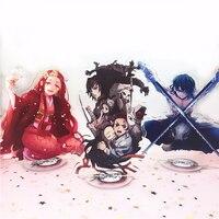 Anime Dämon Slayer Kimetsu keine Yaiba keychain Kamado Tanjirou Hashibira Inosuke Tomioka Giyuu nette spaß cartoon acryl schlüssel kette
