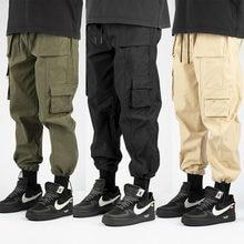 2021 Cargo Pants Men Casual Loose Multi-Pocket Overalls Men's Clothes Army Green Khaki Pants Man Trousers