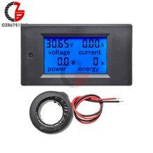 Voltmètre numérique AC 80-260V 0-100A, ampèremètre, testeur d'énergie, tension de courant 110V 220V, wattmètre, alimentation adaptateur