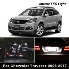13x canbus led kit de luz interior para chevrolet traverse 2009-2017 mapa cúpula tronco caixa de luva luz da placa de licença