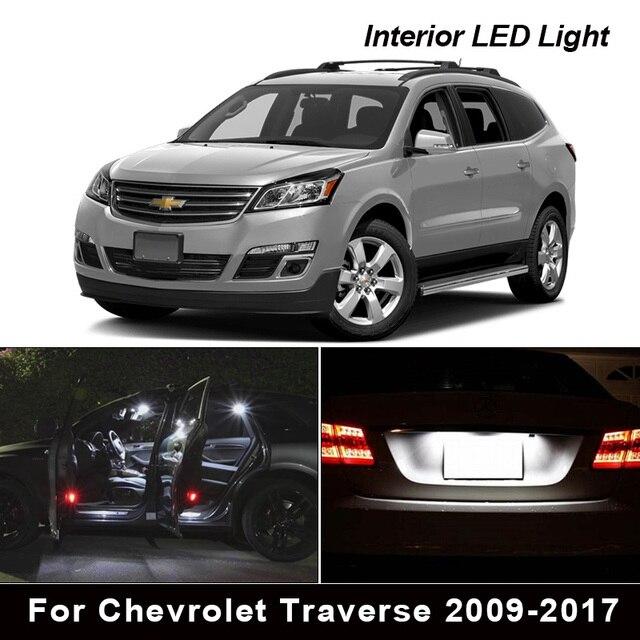 13X Canbus LED iç ışık kiti için Chevrolet Traverse 2009 2017 harita Dome gövde havasız ortam kabini plaka işık