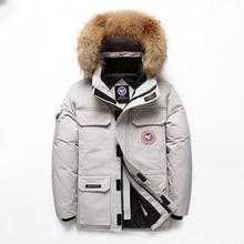 -40 Celsius Down Jacket Real Fur Collar Hooded Thick Parka Down Coat Men Winter Jackets Winter Plus Size 4XL Snow Parka Overcoat стоимость