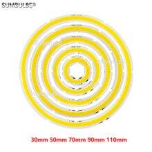 Светодиодный светильник angel eyes, 2 Вт-12 Вт, cob, 12 В постоянного тока, 20-120 мм
