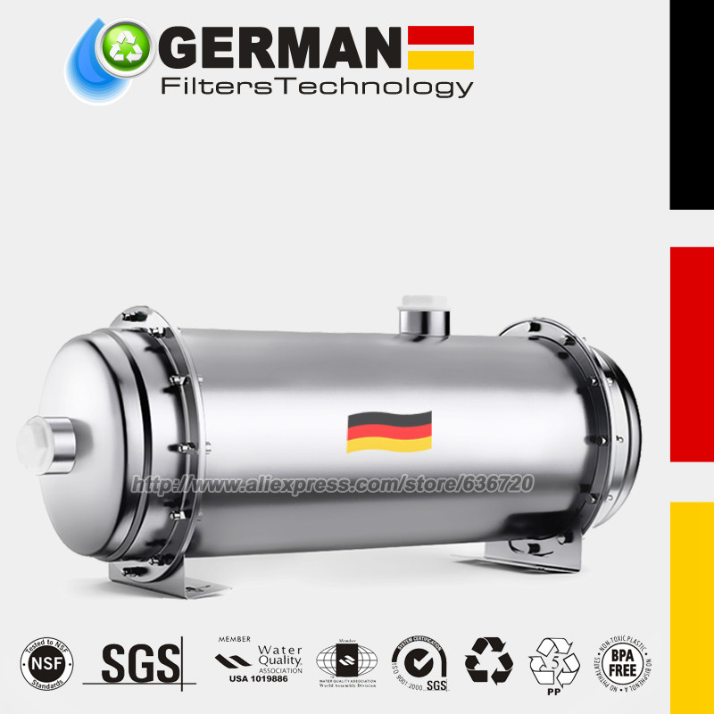 304 de aço inoxidável filtro de água pvdf ultrafiltration purificador, 3000l, comercial casa cozinha bebida em linha reta uf filtros