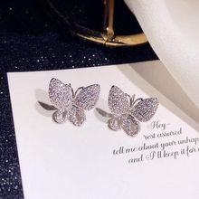 2020 nova bonito s925 prata cor borboleta parafuso prisioneiro brincos para mulheres moda jóias coreano brincos venda quente