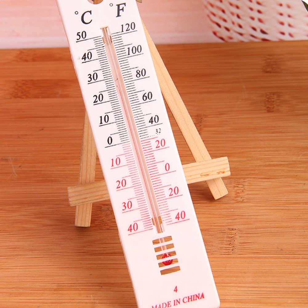 Termómetro higrómetro-50 ~ 50C regla forma RELOJ TEMPERATURA registrador humedad medidor Interior Exterior dijital termometre