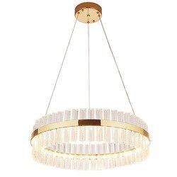 Kryształowy żyrandol LED osobowość twórcza lampa restauracja prosta sypialnia żyrandol oprawa oświetleniowa