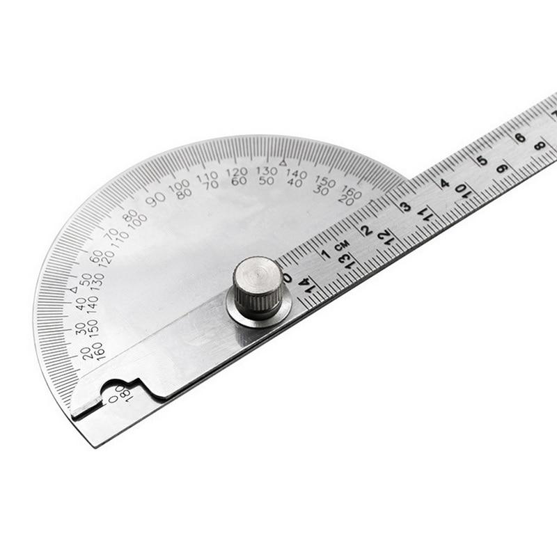 multifuncional aço inoxidável roundhead matemática governante ângulo ferramenta de medição