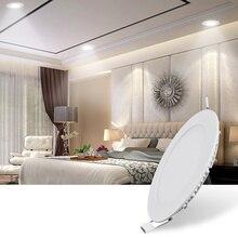 3/6/9/12/15/18/24W Super Thin LED Panel Light for Coffered Ceiling AC 85-265V Ultra Slim LED Panel Lamp Cool White Warm White