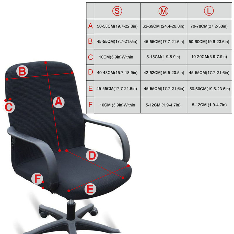 Image 4 - Office Stretch Spandex Chair Covers Anti dirty Computer Seat Chair Cover Arm Chair Cover Elasticity Rotating Lift Dust CoverChair Cover   -