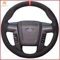 Чехол на руль автомобиля MEWANT, черный, замшевый, красный, для Ford F150 F-150 SVT Raptor 2010 2011 2012 2013 2014, аксессуары, запчасти