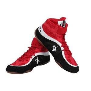Zapatos profesionales de lucha libre, zapatos de boxeo, zapatos para levantar pesas, para lucha libre, talla 38-45