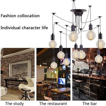 Nordic Retro Ceiling Light Bedroom Decor Spider Lights Vintage Loft Industrial Hanging Lamp Cafe люстра потолочная
