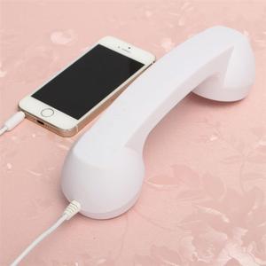 Классический ретро телефон с разъемом 3,5 мм, мини микрофон, динамик, телефонный звонок, приемник для Iphone Samsung Huawei