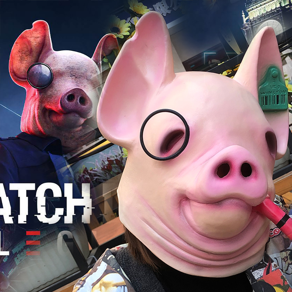 New Game Watch Dogs Legion Cosplay Legion Winston Pig Mask Animal Latex Masks Helmet Halloween Carnival Party Costume Props Boys Costume Accessories Aliexpress