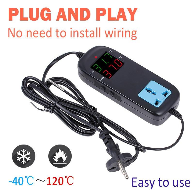 MH2000 AC90V-250V Qualität LED Digitale Intelligente Elektronische Temperatur Controller Mit Buchse Neue