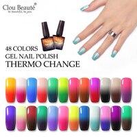 Clou Beaute Thermo Ändern UV Gel Nagellack Top UV Led Gel Nail art Lack Hybrid Soak Off Gel Lack glück Nagel Farbe 10ml