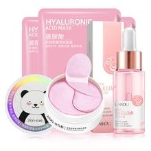 Facial-Mask Makeup-Set Face-Skin-Care-Set Eye-Patches Moisturizing Cherry Blossom Collagen
