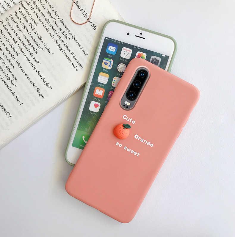 3D avokado yumuşak kılıf Huawei onur için görünüm 10 9X 8C 8X 8A 7X 10i 20i P20 P30 Mate 20 30 Pro Lite Y9 Prime P akıllı artı 2019 vaka