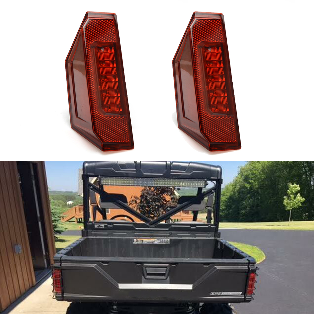 1 Pcs UTV Rear Taillight Brake Stop Lamp For Polaris Ranger General CREW 570 900 1000 PRO XD XP 4P 2013 - 2019 Tail Light Red