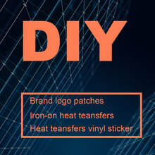 Fer personnalisé sur Les Transferts Pour Vêtements Fer sur Transfert Marque Logo Patch Marque Applique Thermo Autocollants Pour Vêtements Rayure Badges