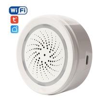 Neo sem fio wi fi usb sirene sensor de alarme som e luz sirene sensor casa vida inteligente