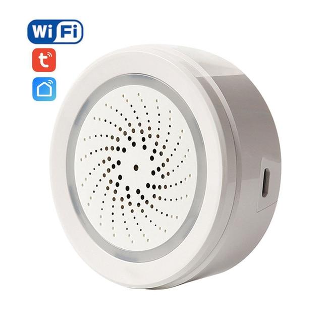 ניאו אלחוטי WiFi USB סירנה אזעקת חיישן קול ואור סירנה חיישן בית חכם חיים