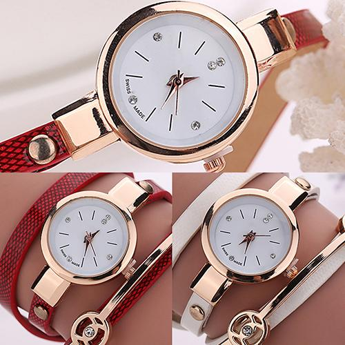 Fashion Women Watch Long Slims Clock Faux Leather Band Strap Wristwatch Rhinestone Quartz Wrist Watch New Reloj Mujer Ladies Dre