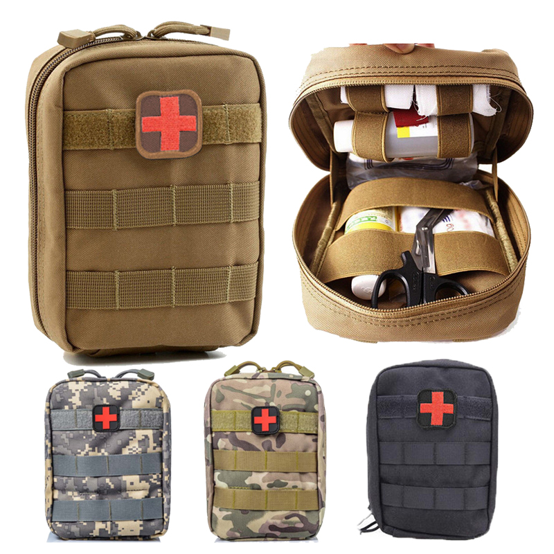 Outdoor Backpack Mens Outdoor Tactical Fanny Pack Camping Hiking First Aid Medical Molle Pouch Bag Utility Hunting Waist Bag