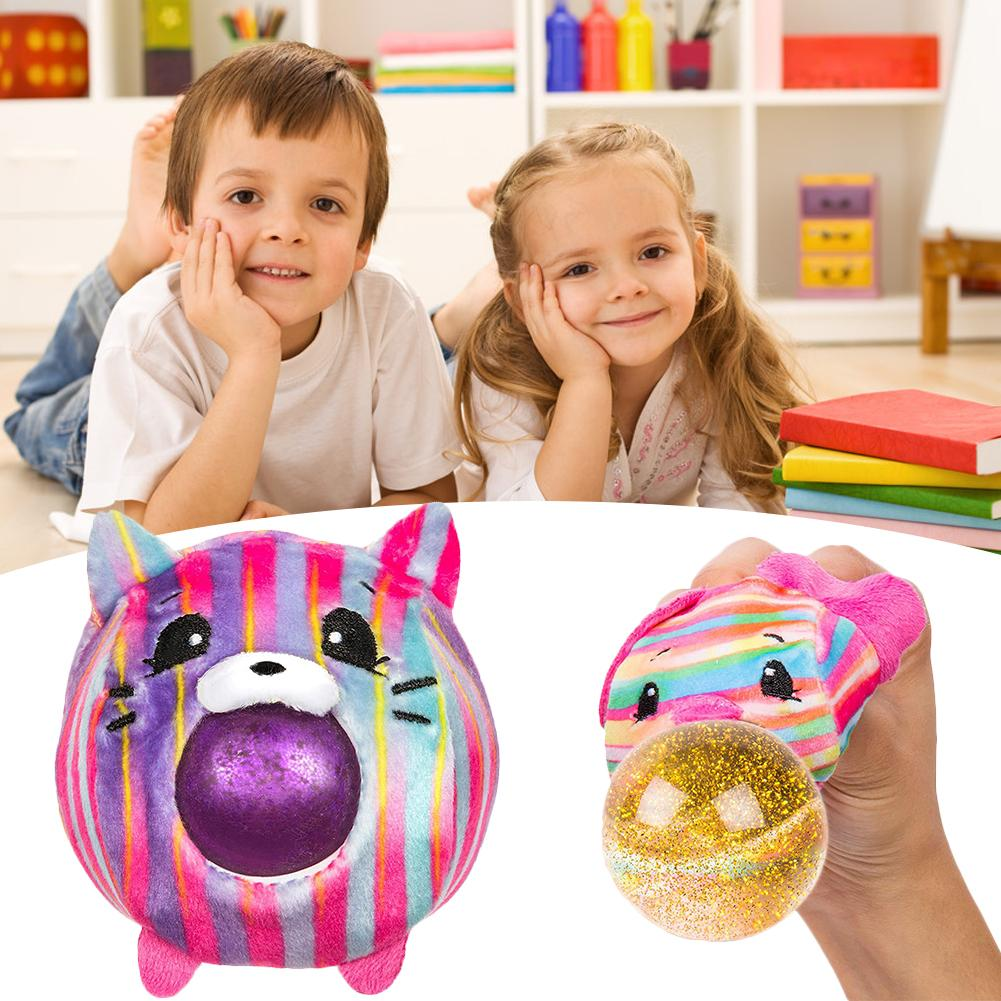 Plastic Animal Style Cute Pet Spit Bubble Ball Plush Decompression Toy Ball For Kids Squeezing Toy