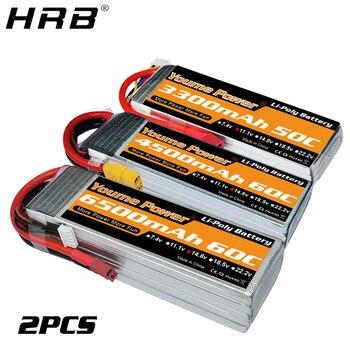 2PCS Youme Lipo Battery 3300mah 4500mah 5200mah 6200mah 6500mah T Deans EC5 XT90 3S 11.1V 2S 7.4V 4S 14.8V 6S 22.2V RC Car Parts