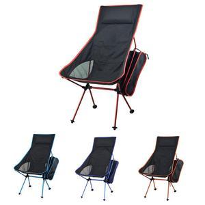 Image 1 - Taşınabilir katlanabilir ay sandalye sağlam uygun Ultralight plaj koltukları yürüyüş balıkçılık kamp için açık arkalığı sandalyeler