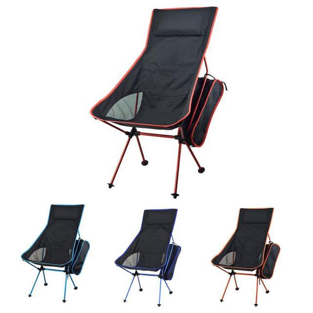 Taşınabilir katlanabilir ay sandalye sağlam uygun Ultralight plaj koltukları yürüyüş balıkçılık kamp için açık arkalığı sandalyeler