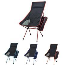 נייד מתקפל ירח כיסא חסון נוח Ultralight חוף מושבי לטיולים דיג קמפינג חיצוני משענת כיסאות
