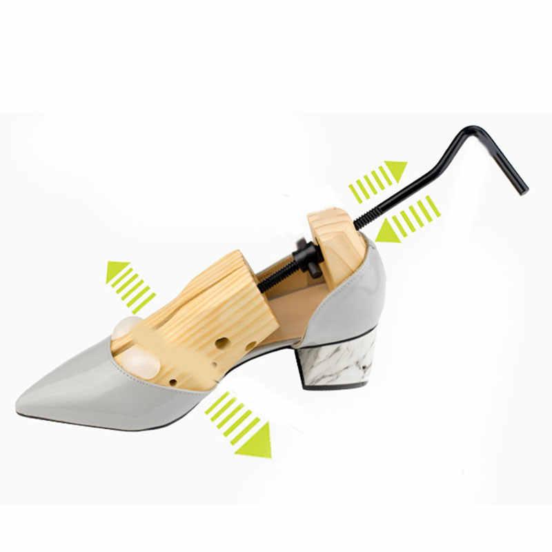 1 peça sapatos maca de madeira sapato árvore shaper rack, madeira ajustável zapatos homb expansor árvores tamanho s/m/l homem mulher