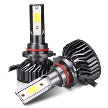 цена на 9005 LED Mini Car Headlight Bulbs 36W 8000LM Headlamps Kit COB Fog light BULB hight Beam Set 12V LED Lamp 36W 6000K Grey
