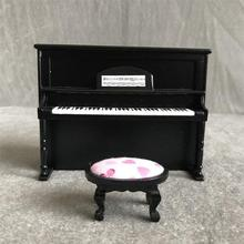 Dollhouse Piano 1:12 Miniature Toy Traditional Attractive Mini Ornament Gift Decoration For House Doll House Bedroom Box