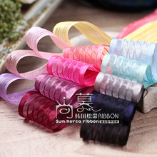 100yards 10 16 25 38mm satin edge stripes organza sheer ribbon for bouquet flower gift packing package bow home decor