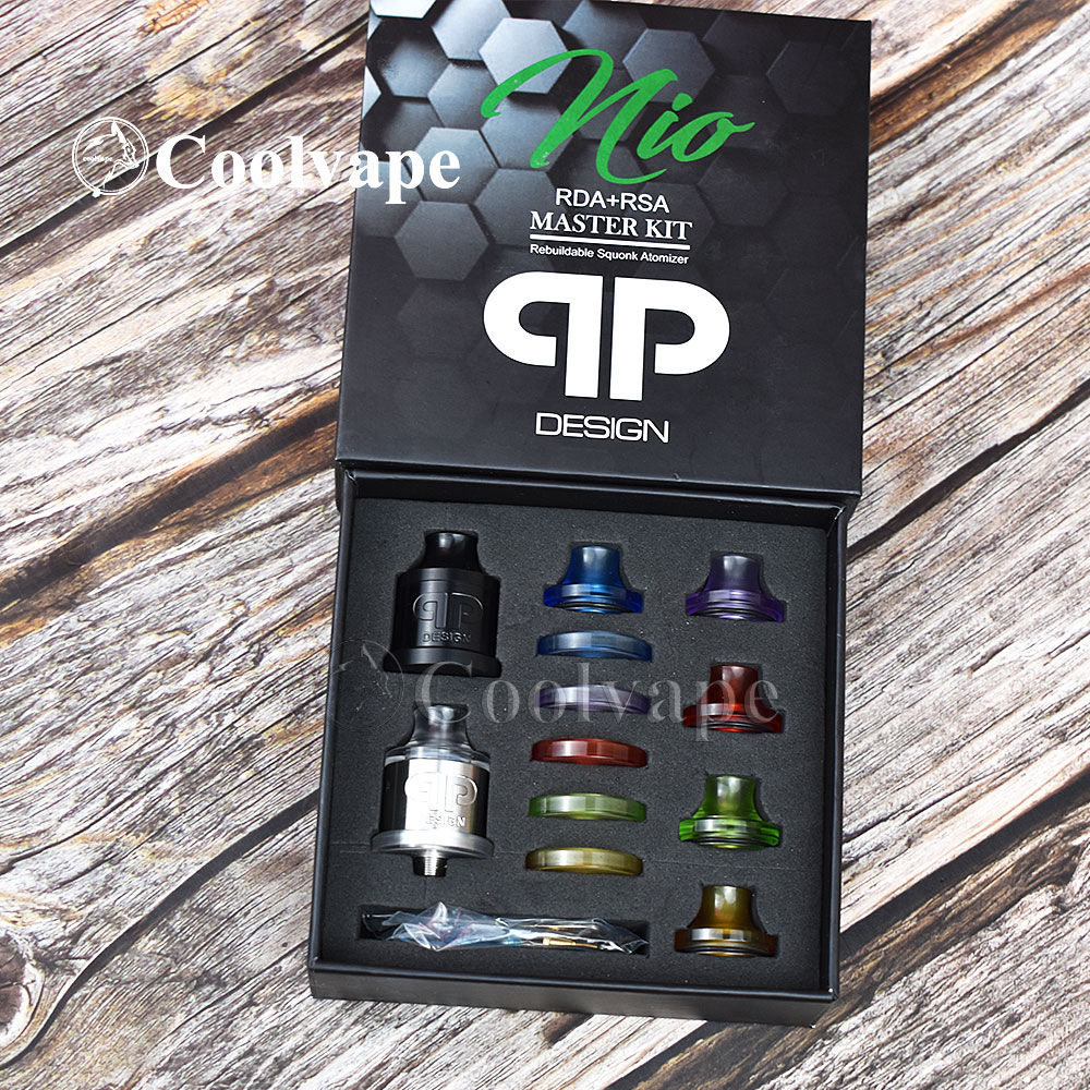 Coolvape QP Design Nio RDA THC Tauren Solo RDA With Bf Pin Single Coil 22mm Rda 316ss Material Vs QP KALI V2 RDA